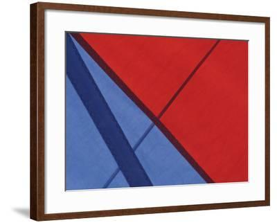 Close-Up of the Seams on a Spinnaker Sail of a Sailing Ship--Framed Photographic Print