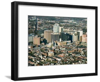 Aerial View of Buildings and High Rises of Cityscape in Wilmington, Delaware--Framed Photographic Print