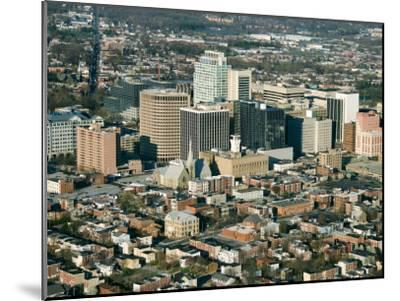 Aerial View of Buildings and High Rises of Cityscape in Wilmington, Delaware--Mounted Photographic Print