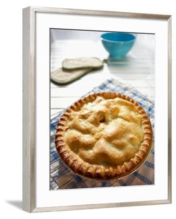 Fresh Baked and Delicious Pie Cooling on Metal Rack--Framed Photographic Print