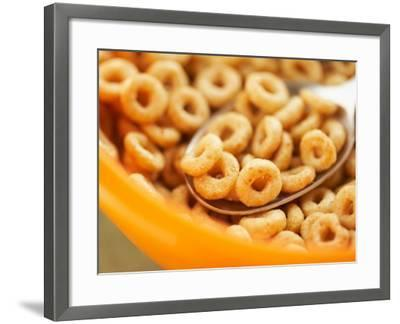 Spoon in Bowl of Breakfast Cereal--Framed Photographic Print
