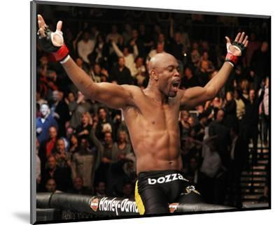 UFC 126: Feb 5, 2011 - Anderson Silva vs Vitor Belfort-Jed Jacobsohn-Mounted Photo