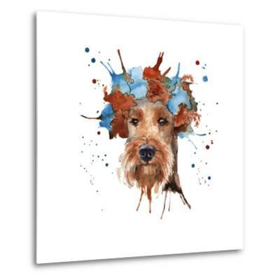 The Dog's Muzzle in the Headdress is Made in the Form of a Wreat- luchioly-Metal Print