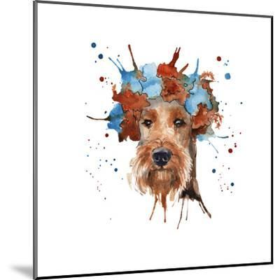 The Dog's Muzzle in the Headdress is Made in the Form of a Wreat- luchioly-Mounted Art Print
