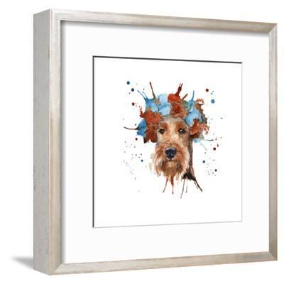 The Dog's Muzzle in the Headdress is Made in the Form of a Wreat- luchioly-Framed Art Print