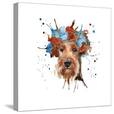 The Dog's Muzzle in the Headdress is Made in the Form of a Wreat- luchioly-Stretched Canvas Print