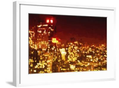 Red Night - In the Style of Oil Painting-Philippe Hugonnard-Framed Giclee Print