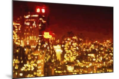 Red Night - In the Style of Oil Painting-Philippe Hugonnard-Mounted Giclee Print