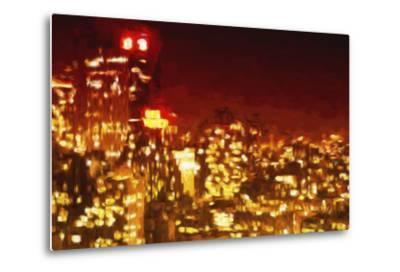 Red Night - In the Style of Oil Painting-Philippe Hugonnard-Metal Print