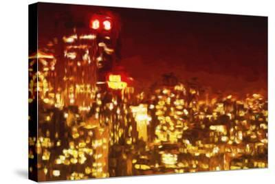 Red Night - In the Style of Oil Painting-Philippe Hugonnard-Stretched Canvas Print