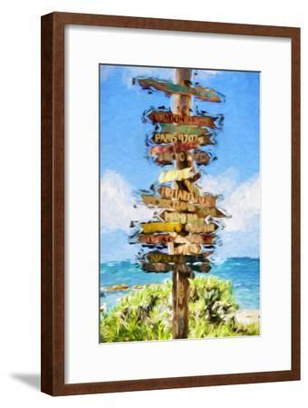 Destinations II - In the Style of Oil Painting-Philippe Hugonnard-Framed Giclee Print