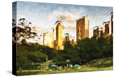 Central Park Sunset IV - In the Style of Oil Painting-Philippe Hugonnard-Stretched Canvas Print