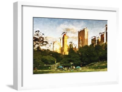 Central Park Sunset IV - In the Style of Oil Painting-Philippe Hugonnard-Framed Giclee Print