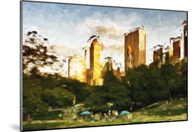 Central Park Sunset IV - In the Style of Oil Painting-Philippe Hugonnard-Mounted Giclee Print