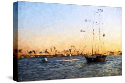 Sunset Yacht - In the Style of Oil Painting-Philippe Hugonnard-Stretched Canvas Print