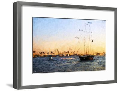 Sunset Yacht - In the Style of Oil Painting-Philippe Hugonnard-Framed Giclee Print