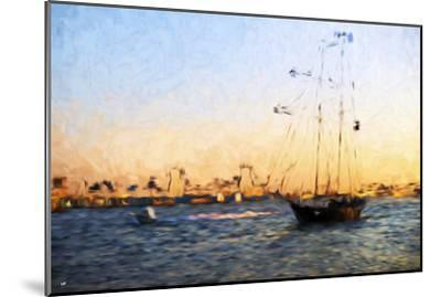 Sunset Yacht - In the Style of Oil Painting-Philippe Hugonnard-Mounted Giclee Print
