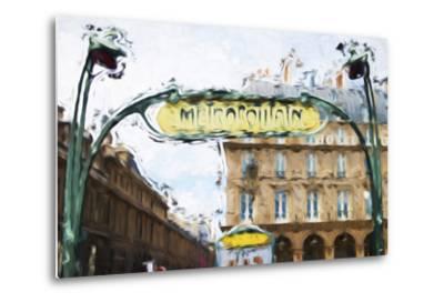 Metropolitain - In the Style of Oil Painting-Philippe Hugonnard-Metal Print