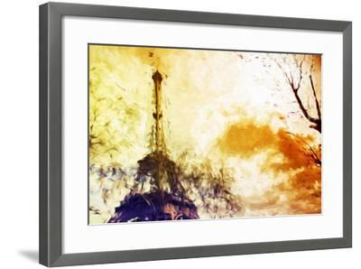 Eiffel Sunset - In the Style of Oil Painting-Philippe Hugonnard-Framed Giclee Print