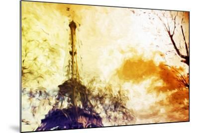 Eiffel Sunset - In the Style of Oil Painting-Philippe Hugonnard-Mounted Giclee Print