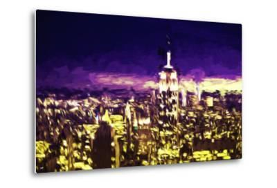 NYC Purple Sunset II - In the Style of Oil Painting-Philippe Hugonnard-Metal Print