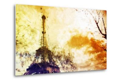 Eiffel Sunset - In the Style of Oil Painting-Philippe Hugonnard-Metal Print
