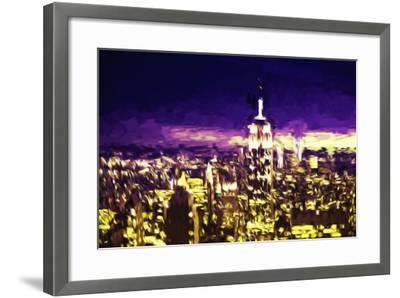 NYC Purple Sunset II - In the Style of Oil Painting-Philippe Hugonnard-Framed Giclee Print