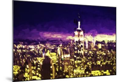 NYC Purple Sunset II - In the Style of Oil Painting-Philippe Hugonnard-Mounted Giclee Print
