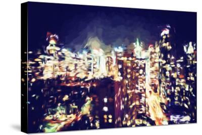 Manhattan Night VI - In the Style of Oil Painting-Philippe Hugonnard-Stretched Canvas Print