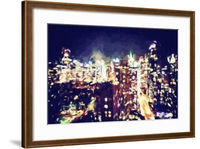 Manhattan Night VI - In the Style of Oil Painting-Philippe Hugonnard-Framed Giclee Print