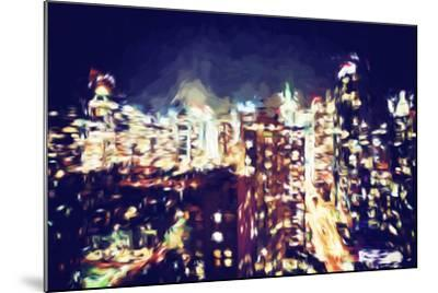 Manhattan Night VI - In the Style of Oil Painting-Philippe Hugonnard-Mounted Giclee Print