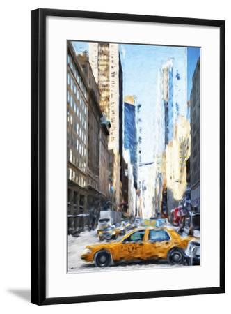 NYC Taxi - In the Style of Oil Painting-Philippe Hugonnard-Framed Giclee Print