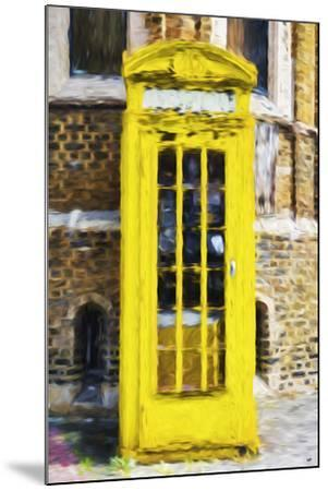Yellow Phone Booth - In the Style of Oil Painting-Philippe Hugonnard-Mounted Giclee Print
