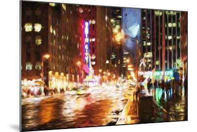 Manhattan Night II - In the Style of Oil Painting-Philippe Hugonnard-Mounted Giclee Print