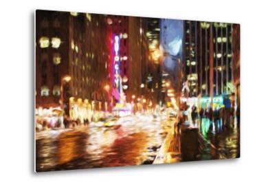 Manhattan Night II - In the Style of Oil Painting-Philippe Hugonnard-Metal Print