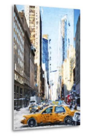 NYC Taxi - In the Style of Oil Painting-Philippe Hugonnard-Metal Print