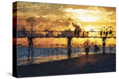 Sunset Gold - In the Style of Oil Painting-Philippe Hugonnard-Stretched Canvas Print