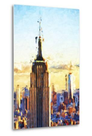 Empire State Sunset - In the Style of Oil Painting-Philippe Hugonnard-Metal Print