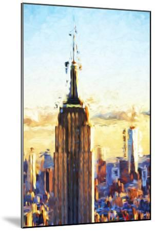 Empire State Sunset - In the Style of Oil Painting-Philippe Hugonnard-Mounted Giclee Print