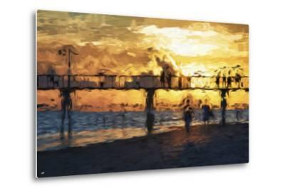 Sunset Gold - In the Style of Oil Painting-Philippe Hugonnard-Metal Print