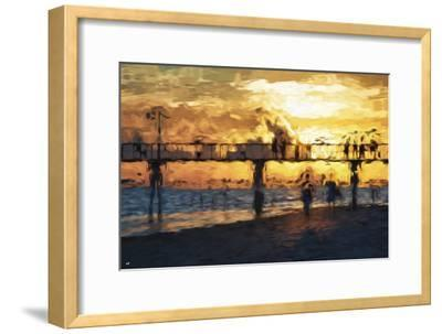 Sunset Gold - In the Style of Oil Painting-Philippe Hugonnard-Framed Giclee Print