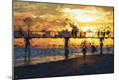 Sunset Gold - In the Style of Oil Painting-Philippe Hugonnard-Mounted Giclee Print