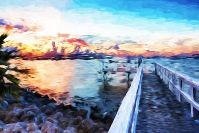Romantic Pontoon IV - In the Style of Oil Painting-Philippe Hugonnard-Giclee Print