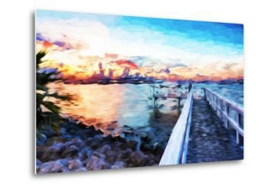 Romantic Pontoon IV - In the Style of Oil Painting-Philippe Hugonnard-Metal Print