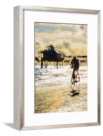 Cyclist - In the Style of Oil Painting-Philippe Hugonnard-Framed Giclee Print