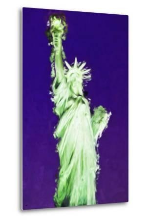 Statue of Liberty VIII - In the Style of Oil Painting-Philippe Hugonnard-Metal Print