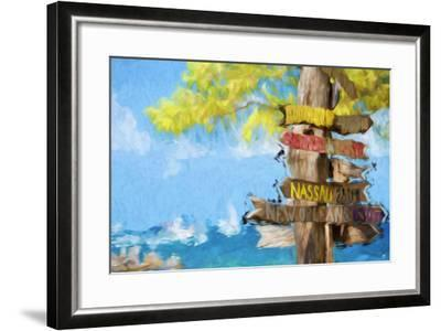 Destinations III - In the Style of Oil Painting-Philippe Hugonnard-Framed Giclee Print