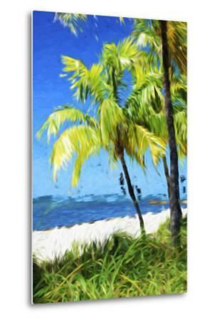 Natural Beach - In the Style of Oil Painting-Philippe Hugonnard-Metal Print