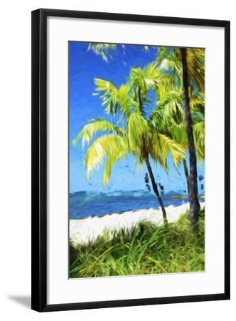 Natural Beach - In the Style of Oil Painting-Philippe Hugonnard-Framed Giclee Print