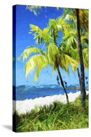 Natural Beach - In the Style of Oil Painting-Philippe Hugonnard-Stretched Canvas Print
